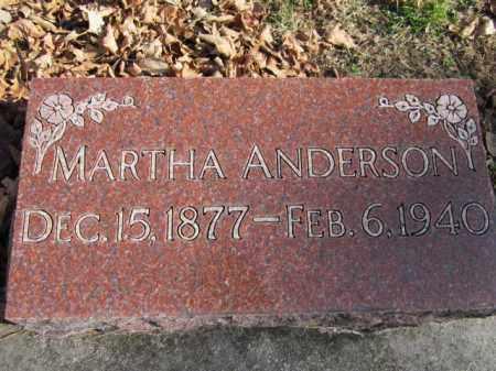 ANDERSON, MARTHA - Saunders County, Nebraska | MARTHA ANDERSON - Nebraska Gravestone Photos