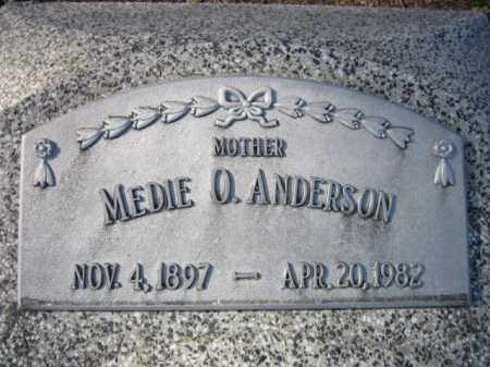 ANDERSON, MEDIE O. - Saunders County, Nebraska | MEDIE O. ANDERSON - Nebraska Gravestone Photos