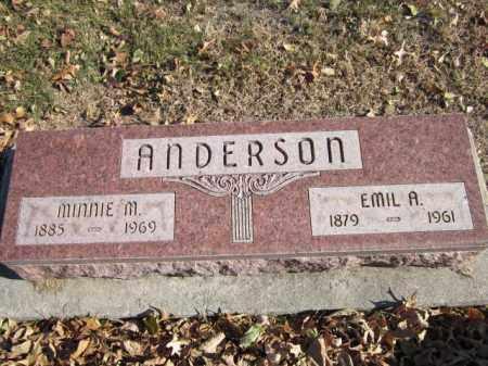 ANDERSON, MINNIE M. - Saunders County, Nebraska   MINNIE M. ANDERSON - Nebraska Gravestone Photos