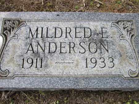 ANDERSON, MILDRED E. - Saunders County, Nebraska | MILDRED E. ANDERSON - Nebraska Gravestone Photos