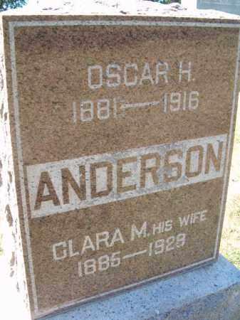 ANDERSON, OSCAR H - Saunders County, Nebraska   OSCAR H ANDERSON - Nebraska Gravestone Photos