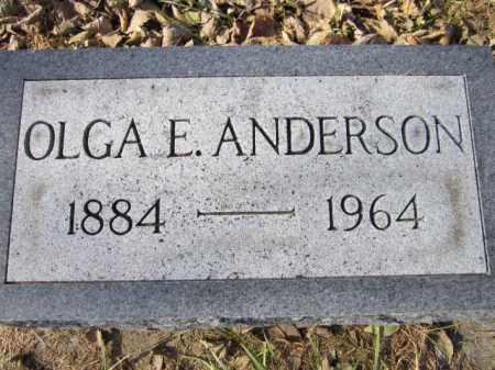 ANDERSON, OLGA E. - Saunders County, Nebraska   OLGA E. ANDERSON - Nebraska Gravestone Photos