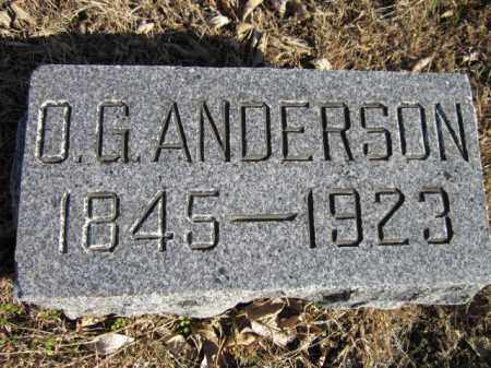 ANDERSON, O. G. - Saunders County, Nebraska | O. G. ANDERSON - Nebraska Gravestone Photos