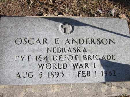 ANDERSON, OSCAR E. (MILITARY MARKER) - Saunders County, Nebraska | OSCAR E. (MILITARY MARKER) ANDERSON - Nebraska Gravestone Photos