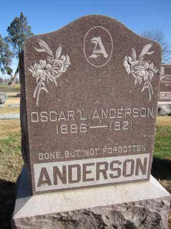 ANDERSON, OSCAR L. - Saunders County, Nebraska | OSCAR L. ANDERSON - Nebraska Gravestone Photos