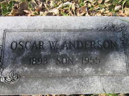 ANDERSON, OSCAR W. - Saunders County, Nebraska | OSCAR W. ANDERSON - Nebraska Gravestone Photos