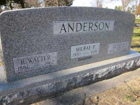 ANDERSON, MILRAE E. - Saunders County, Nebraska   MILRAE E. ANDERSON - Nebraska Gravestone Photos