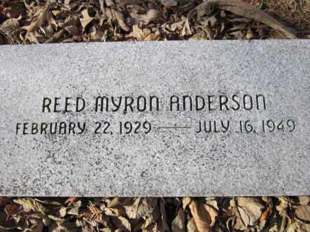 ANDERSON, REED MYRON - Saunders County, Nebraska | REED MYRON ANDERSON - Nebraska Gravestone Photos
