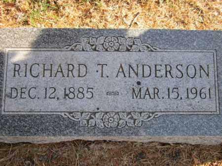 ANDERSON, RICHARD T. - Saunders County, Nebraska | RICHARD T. ANDERSON - Nebraska Gravestone Photos