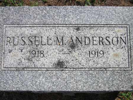 ANDERSON, RUSSELL M. - Saunders County, Nebraska   RUSSELL M. ANDERSON - Nebraska Gravestone Photos