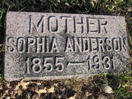 ANDERSON, SOPHIA - Saunders County, Nebraska | SOPHIA ANDERSON - Nebraska Gravestone Photos
