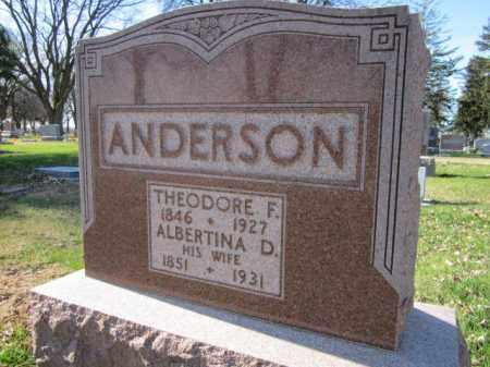 ANDERSON, ALBERTINA D. - Saunders County, Nebraska   ALBERTINA D. ANDERSON - Nebraska Gravestone Photos