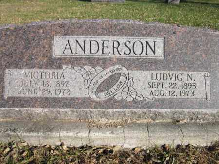 ANDERSON, VICTORIA - Saunders County, Nebraska | VICTORIA ANDERSON - Nebraska Gravestone Photos