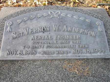 ANDERSON, VERNON W. SGT. - Saunders County, Nebraska | VERNON W. SGT. ANDERSON - Nebraska Gravestone Photos