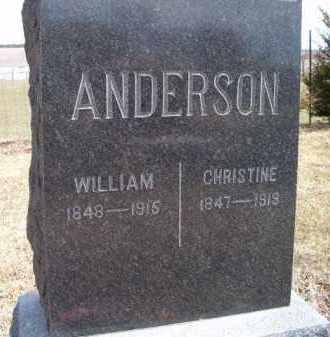 ANDERSON, WILLIAM - Saunders County, Nebraska | WILLIAM ANDERSON - Nebraska Gravestone Photos