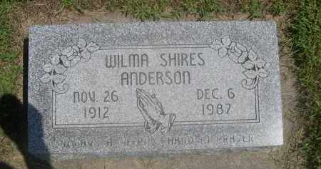 SHIRES ANDERSON, WILMA - Saunders County, Nebraska   WILMA SHIRES ANDERSON - Nebraska Gravestone Photos