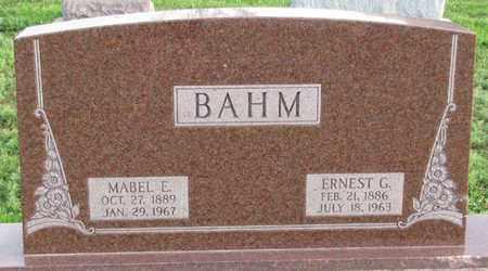 BAHM, ERNEST G. - Saunders County, Nebraska | ERNEST G. BAHM - Nebraska Gravestone Photos