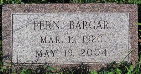 BARGER, FERN - Saunders County, Nebraska | FERN BARGER - Nebraska Gravestone Photos