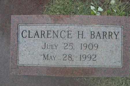 BARRY, CLARENCE H. - Saunders County, Nebraska   CLARENCE H. BARRY - Nebraska Gravestone Photos