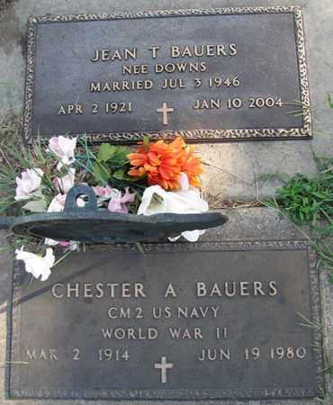 BAUERS, JEAN T. - Saunders County, Nebraska   JEAN T. BAUERS - Nebraska Gravestone Photos
