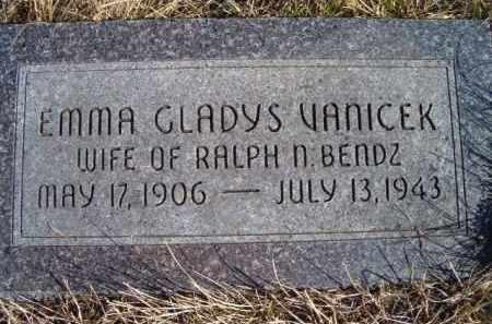 BENDZ, EMMA GLADYS - Saunders County, Nebraska | EMMA GLADYS BENDZ - Nebraska Gravestone Photos