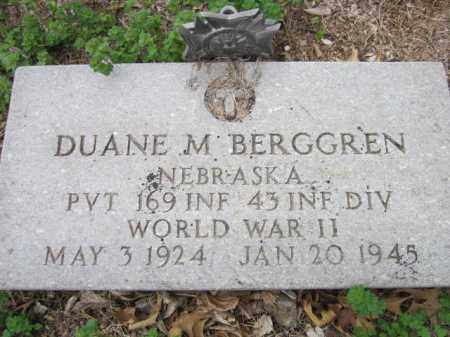 BERGGREN, DUANE M. (MILITARY MARKER) - Saunders County, Nebraska | DUANE M. (MILITARY MARKER) BERGGREN - Nebraska Gravestone Photos