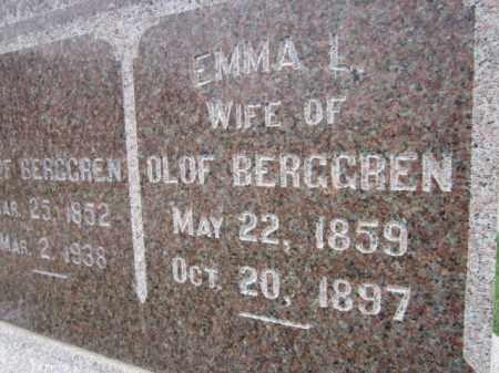 BERGGREN, EMMA L. (CLOSE UP) - Saunders County, Nebraska | EMMA L. (CLOSE UP) BERGGREN - Nebraska Gravestone Photos