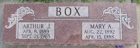BOX, ARTHUR J. - Saunders County, Nebraska | ARTHUR J. BOX - Nebraska Gravestone Photos