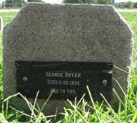 BRYAN, GEORGE - Saunders County, Nebraska | GEORGE BRYAN - Nebraska Gravestone Photos