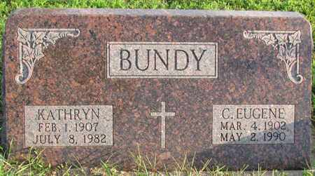 BUNDY, C. EUGENE - Saunders County, Nebraska | C. EUGENE BUNDY - Nebraska Gravestone Photos