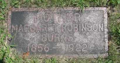 ROBINSON BURNS, MARGARET - Saunders County, Nebraska | MARGARET ROBINSON BURNS - Nebraska Gravestone Photos