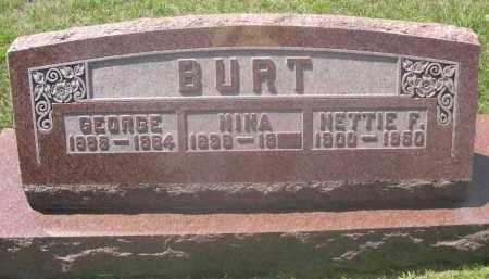 BURT, NINA - Saunders County, Nebraska | NINA BURT - Nebraska Gravestone Photos