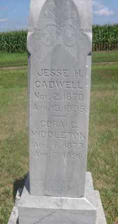 CADWELL, JESSE H. - Saunders County, Nebraska | JESSE H. CADWELL - Nebraska Gravestone Photos