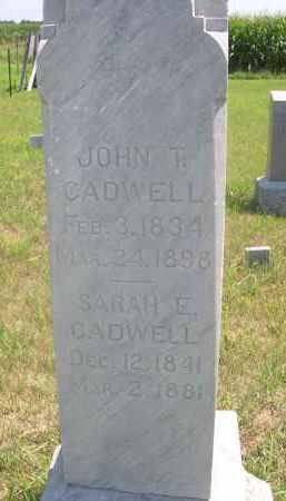 CADWELL, SARAH E. - Saunders County, Nebraska | SARAH E. CADWELL - Nebraska Gravestone Photos