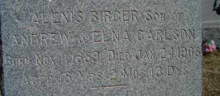 CARLSON, ALEXIS BIRGER - Saunders County, Nebraska | ALEXIS BIRGER CARLSON - Nebraska Gravestone Photos