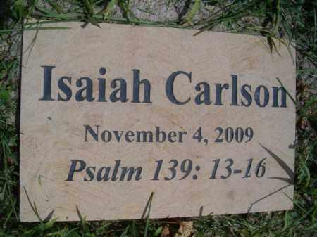 CARLSON, ISAIAH - Saunders County, Nebraska | ISAIAH CARLSON - Nebraska Gravestone Photos