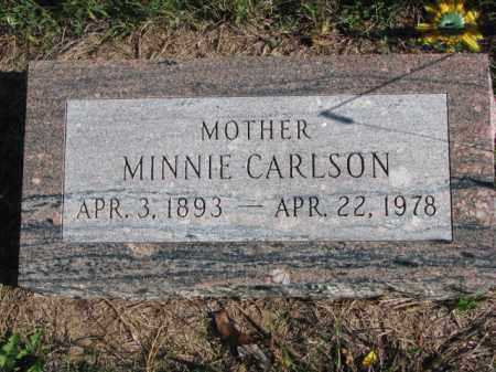 CARLSON, MINNIE - Saunders County, Nebraska   MINNIE CARLSON - Nebraska Gravestone Photos