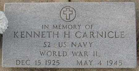 CARNICLE, KENNETH H. (MILITARY MARKER) - Saunders County, Nebraska | KENNETH H. (MILITARY MARKER) CARNICLE - Nebraska Gravestone Photos
