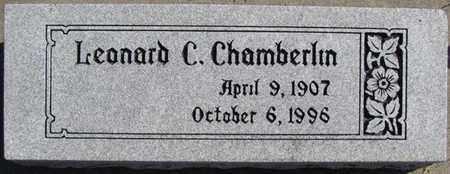 CHAMBERLIN, LEONARD C. - Saunders County, Nebraska | LEONARD C. CHAMBERLIN - Nebraska Gravestone Photos