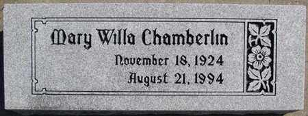 CHAMBERLIN, MARY WILLA - Saunders County, Nebraska   MARY WILLA CHAMBERLIN - Nebraska Gravestone Photos