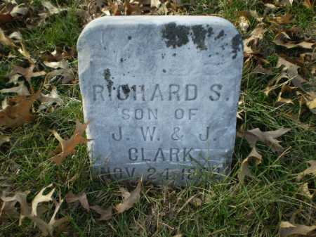 CLARK, RICHARD S - Saunders County, Nebraska | RICHARD S CLARK - Nebraska Gravestone Photos