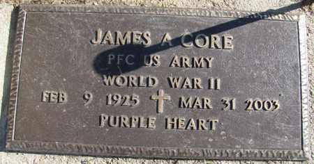 CORE, JAMES A. - Saunders County, Nebraska   JAMES A. CORE - Nebraska Gravestone Photos