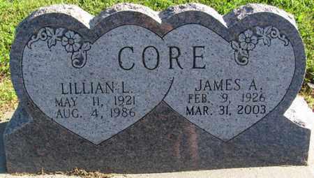 CORE, JAMES A. - Saunders County, Nebraska | JAMES A. CORE - Nebraska Gravestone Photos