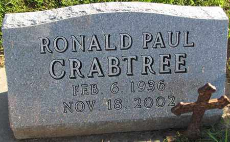 CRABTREE, RONALD PAUL - Saunders County, Nebraska | RONALD PAUL CRABTREE - Nebraska Gravestone Photos