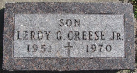 CREESE, LEROY G. JR. - Saunders County, Nebraska | LEROY G. JR. CREESE - Nebraska Gravestone Photos