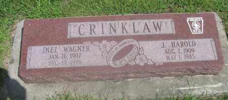 CRINKLAW, J. HAROLD - Saunders County, Nebraska | J. HAROLD CRINKLAW - Nebraska Gravestone Photos