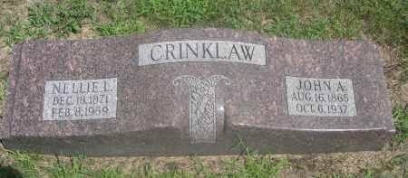 CRINKLAW, JOHN A. - Saunders County, Nebraska   JOHN A. CRINKLAW - Nebraska Gravestone Photos