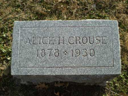CROUSE, ALICE H - Saunders County, Nebraska | ALICE H CROUSE - Nebraska Gravestone Photos