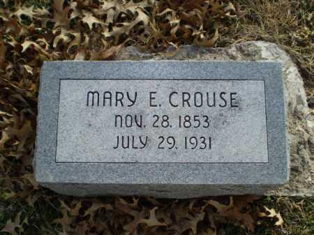 CROUSE, MARY E - Saunders County, Nebraska   MARY E CROUSE - Nebraska Gravestone Photos