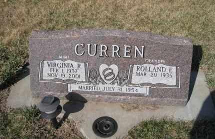 CURREN, VIRGINIA R - Saunders County, Nebraska | VIRGINIA R CURREN - Nebraska Gravestone Photos